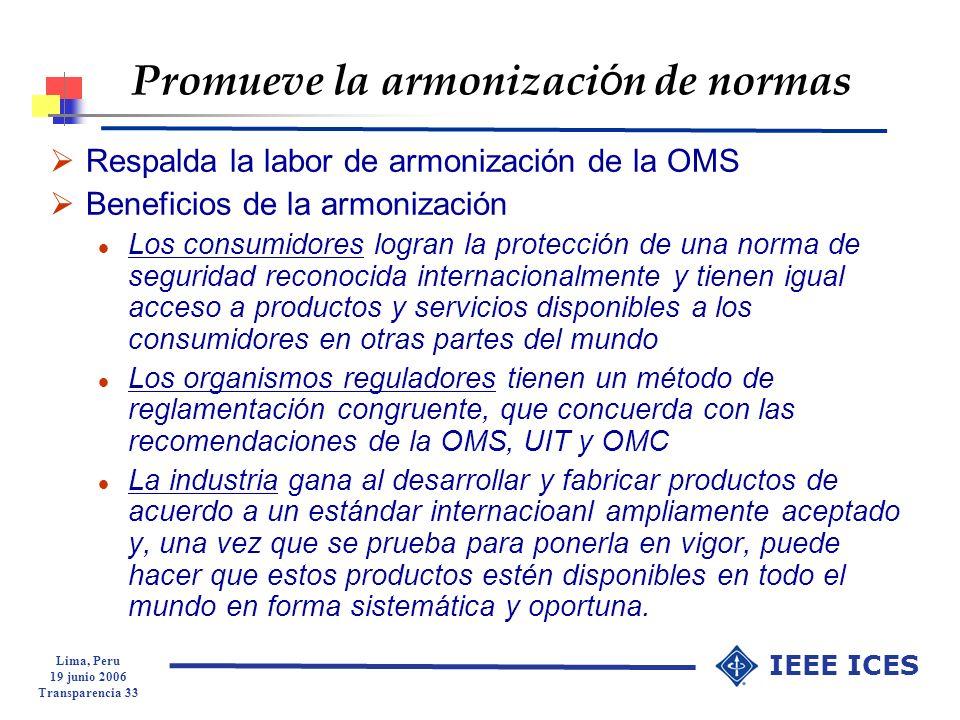 Promueve la armonización de normas