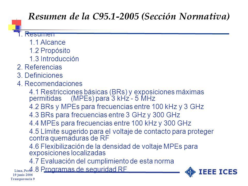Resumen de la C95.1-2005 (Sección Normativa)