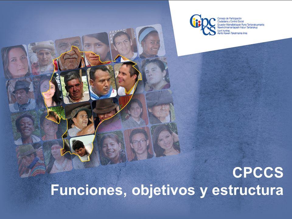 CPCCS Funciones, objetivos y estructura