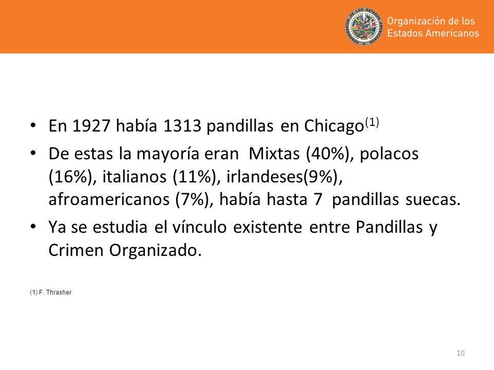 En 1927 había 1313 pandillas en Chicago(1)
