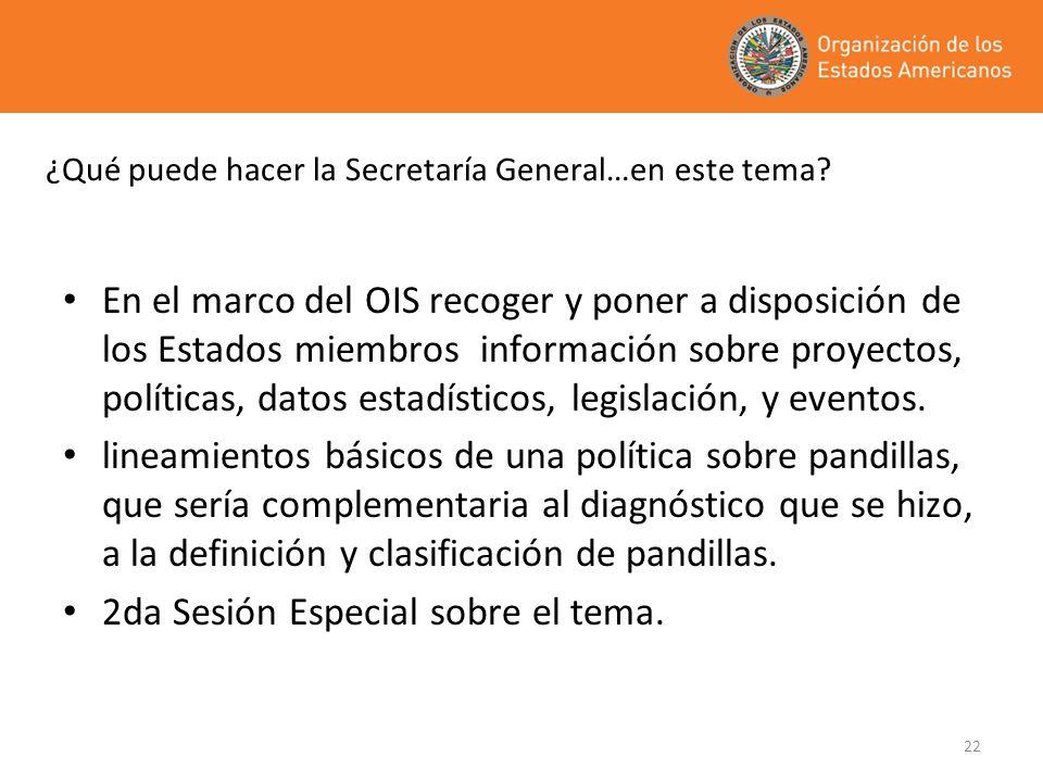 ¿Qué puede hacer la Secretaría General…en este tema