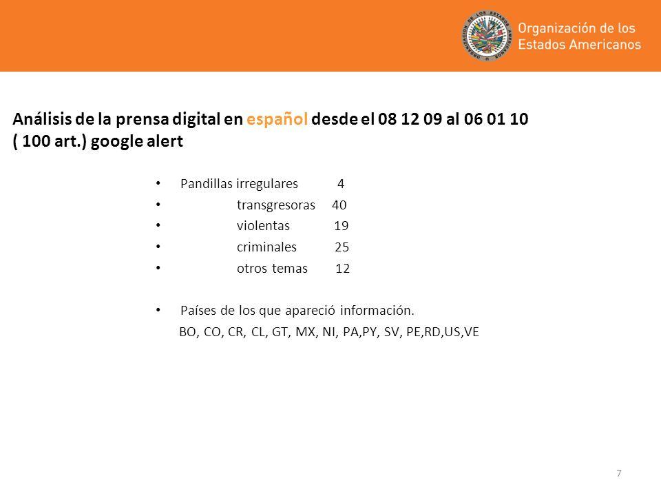 Análisis de la prensa digital en español desde el 08 12 09 al 06 01 10 ( 100 art.) google alert