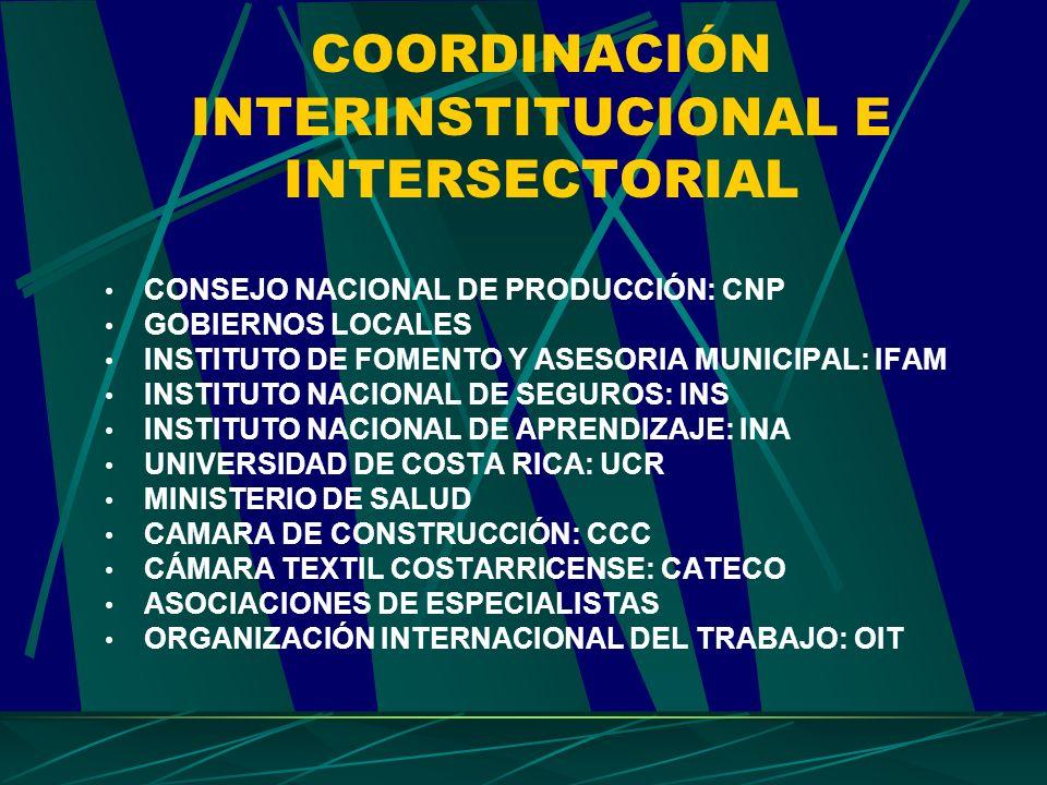 COORDINACIÓN INTERINSTITUCIONAL E INTERSECTORIAL