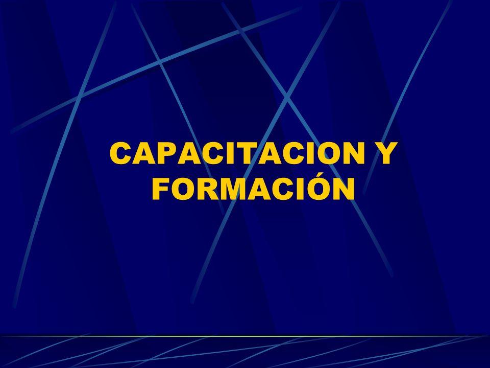 CAPACITACION Y FORMACIÓN