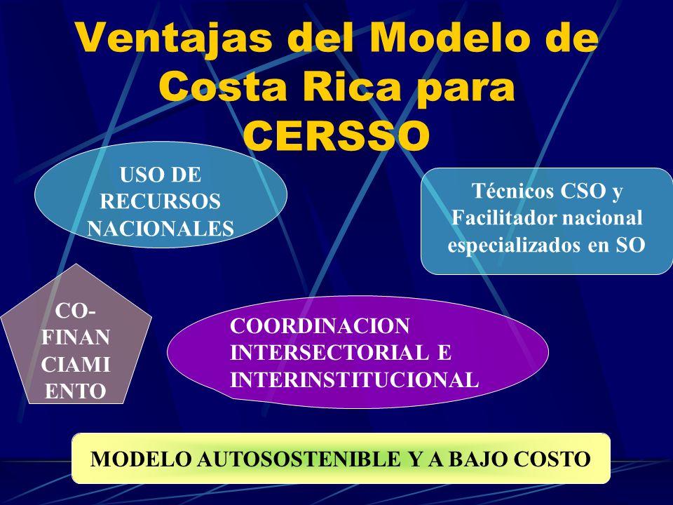 Ventajas del Modelo de Costa Rica para CERSSO