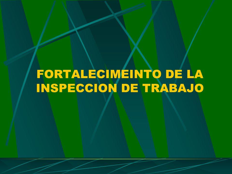 FORTALECIMEINTO DE LA INSPECCION DE TRABAJO