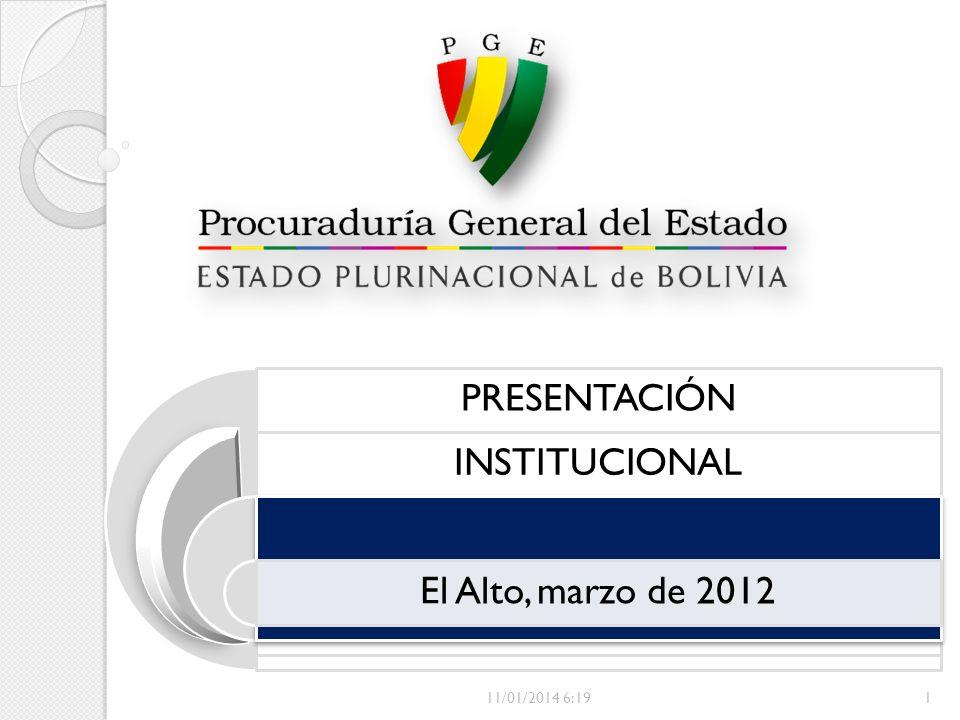 PRESENTACIÓN INSTITUCIONAL El Alto, marzo de 2012 24/03/2017 11:08