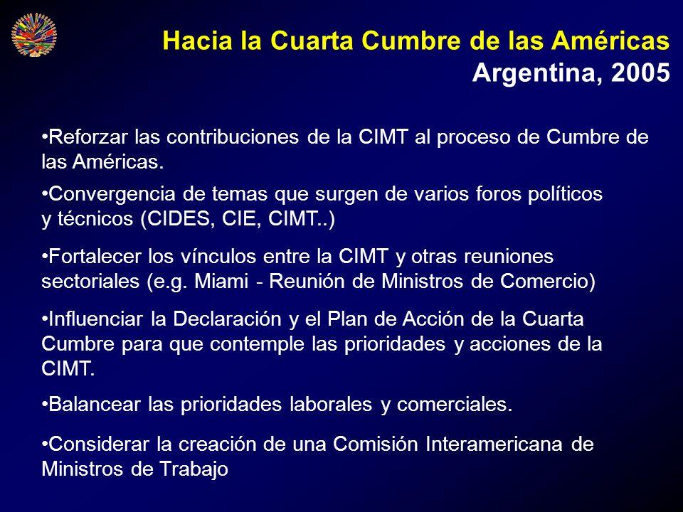 Hacia la Cuarta Cumbre de las Américas Argentina, 2005