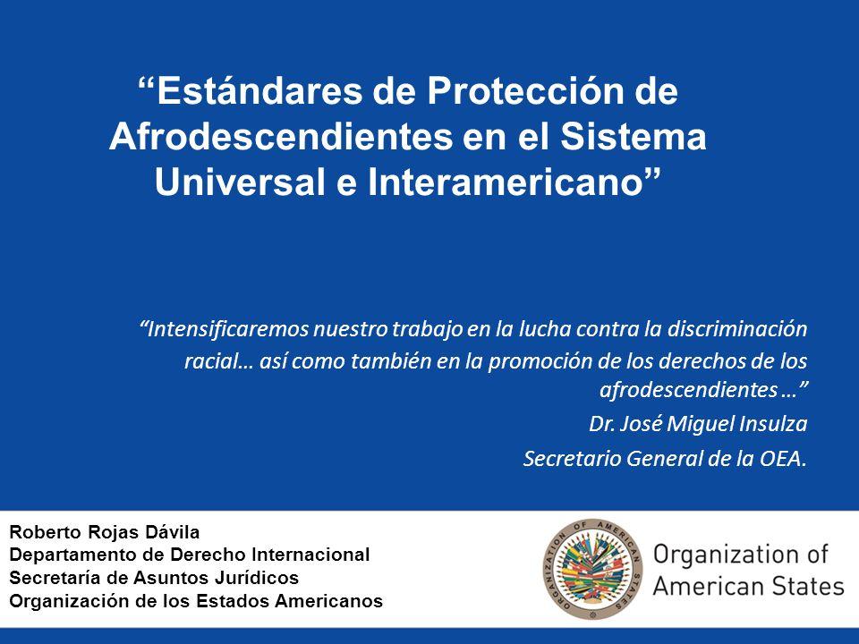 Estándares de Protección de Afrodescendientes en el Sistema Universal e Interamericano