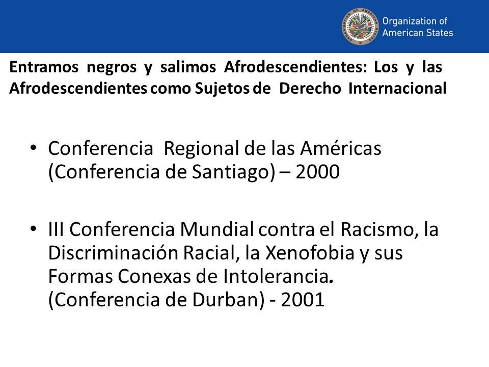 Conferencia Regional de las Américas (Conferencia de Santiago) – 2000