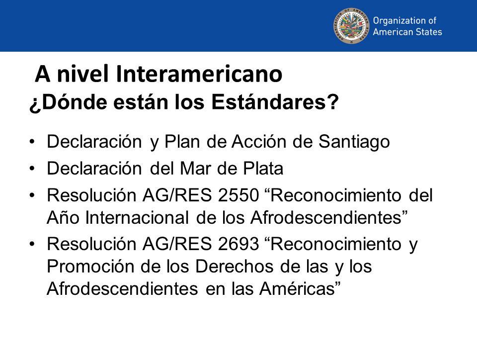 A nivel Interamericano ¿Dónde están los Estándares
