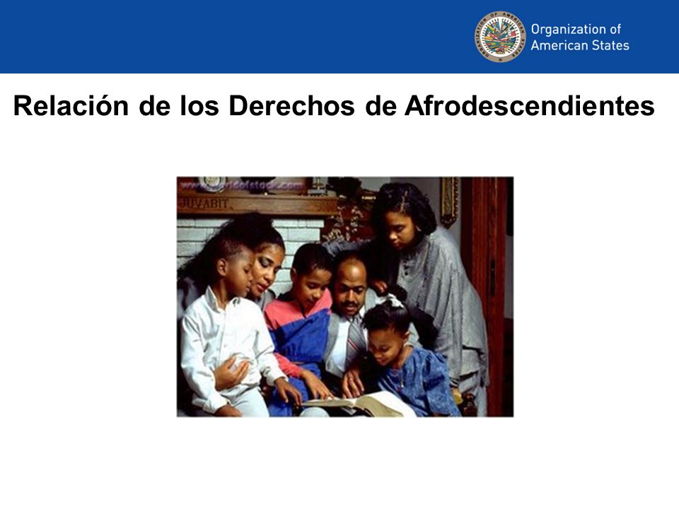 Relación de los Derechos de Afrodescendientes