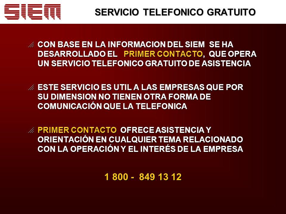 SERVICIO TELEFONICO GRATUITO