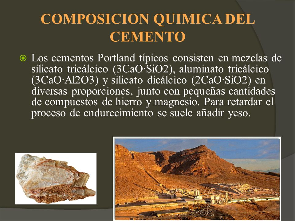 Cemento ppt video online descargar for Composicion quimica del marmol