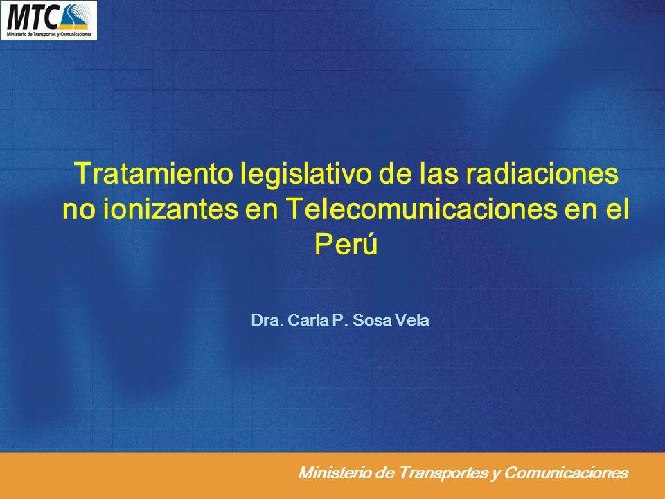 Tratamiento legislativo de las radiaciones no ionizantes en Telecomunicaciones en el Perú