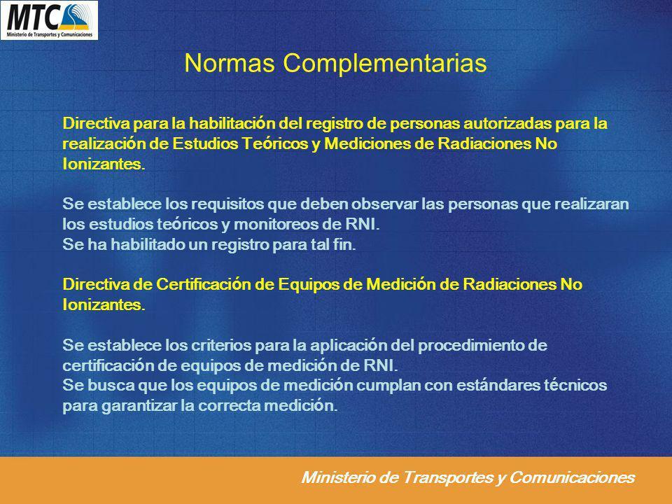 Normas Complementarias
