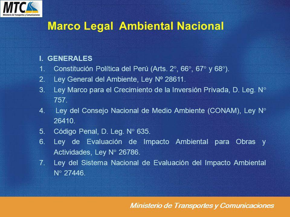 Marco Legal Ambiental Nacional