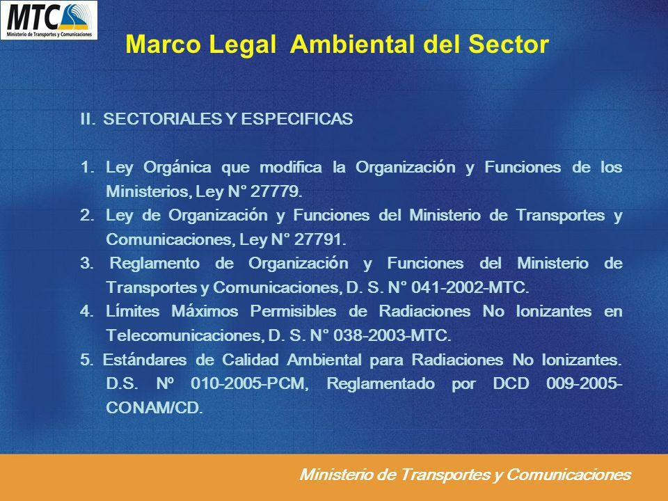 Marco Legal Ambiental del Sector