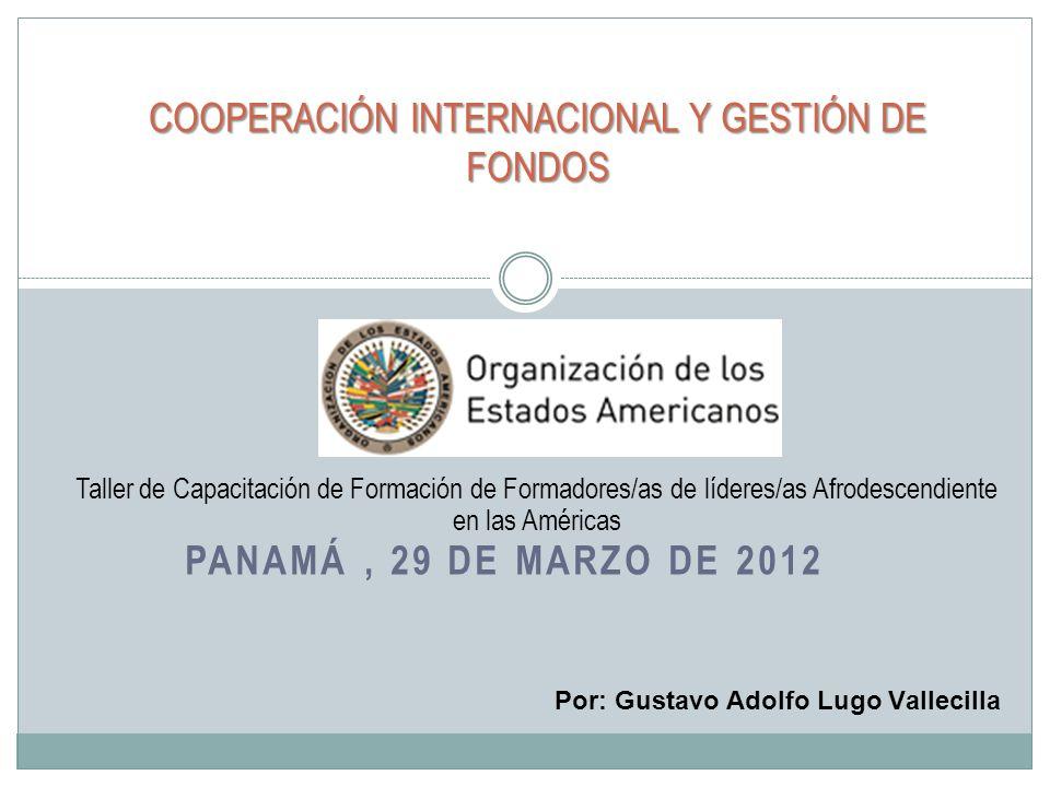 COOPERACIÓN INTERNACIONAL Y GESTIÓN DE FONDOS