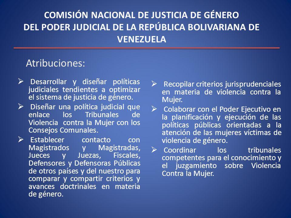 COMISIÓN NACIONAL DE JUSTICIA DE GÉNERO DEL PODER JUDICIAL DE LA REPÚBLICA BOLIVARIANA DE VENEZUELA