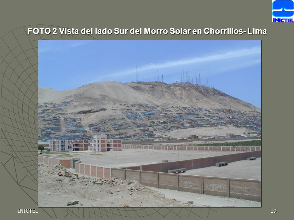 FOTO 2 Vista del lado Sur del Morro Solar en Chorrillos- Lima