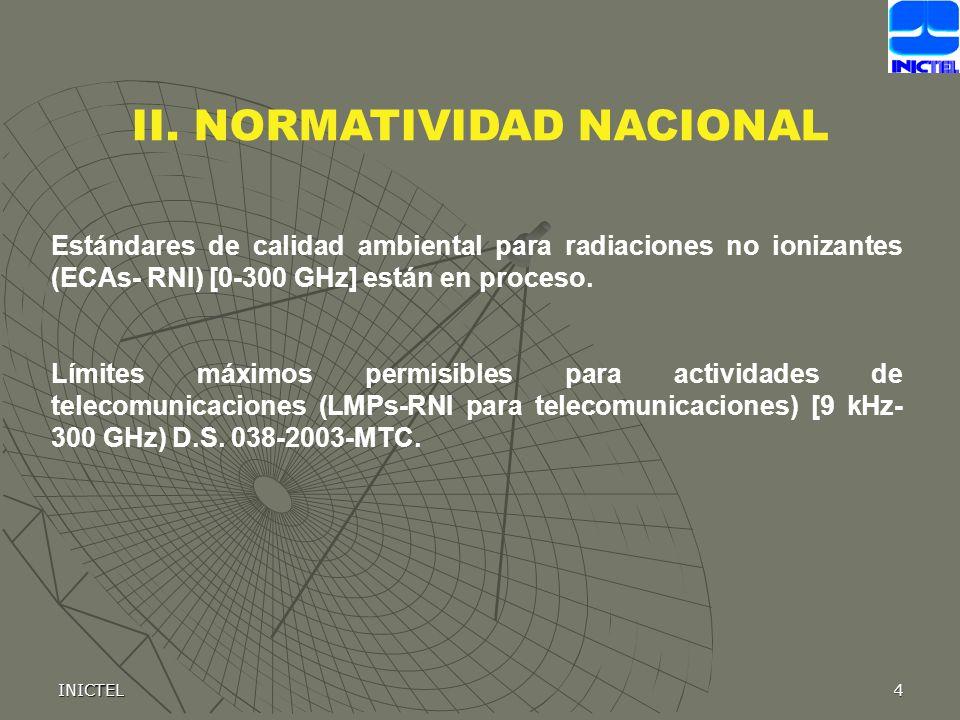II. NORMATIVIDAD NACIONAL
