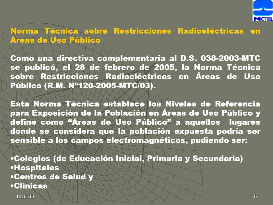 Colegios (de Educación Inicial, Primaria y Secundaria) Hospitales
