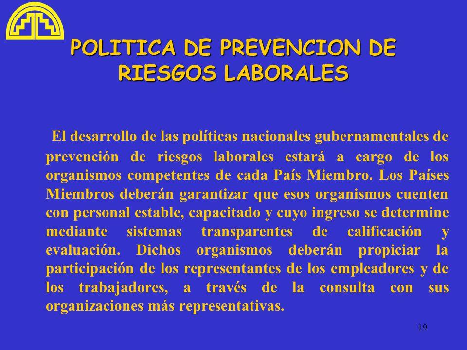 POLITICA DE PREVENCION DE RIESGOS LABORALES