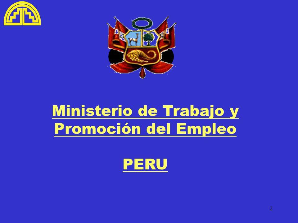Ministerio de Trabajo y Promoción del Empleo PERU