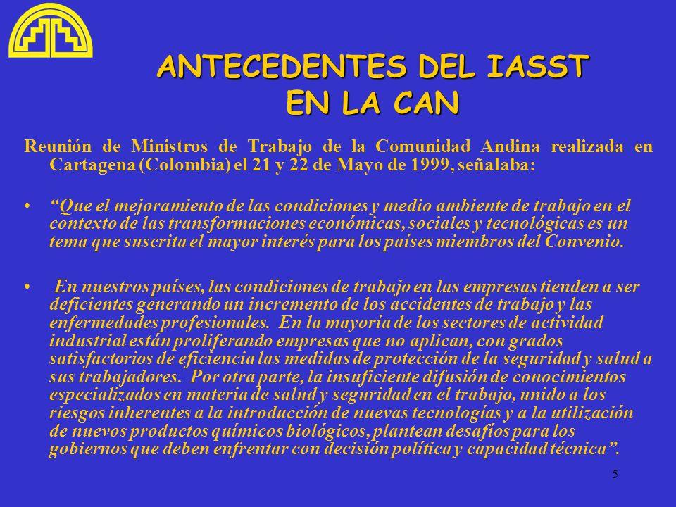 ANTECEDENTES DEL IASST EN LA CAN