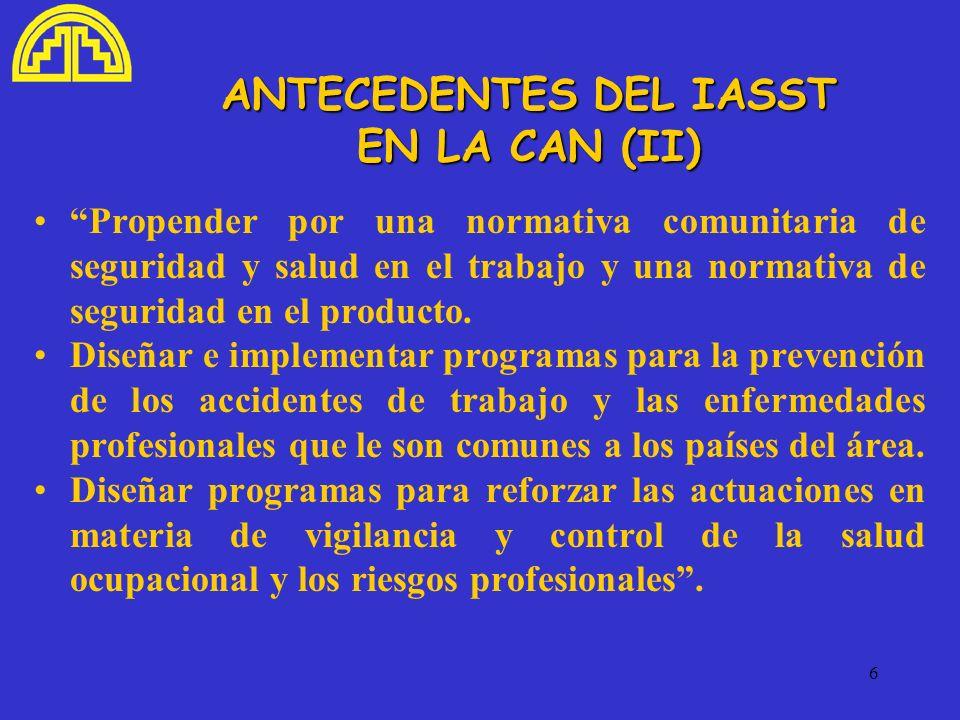 ANTECEDENTES DEL IASST EN LA CAN (II)