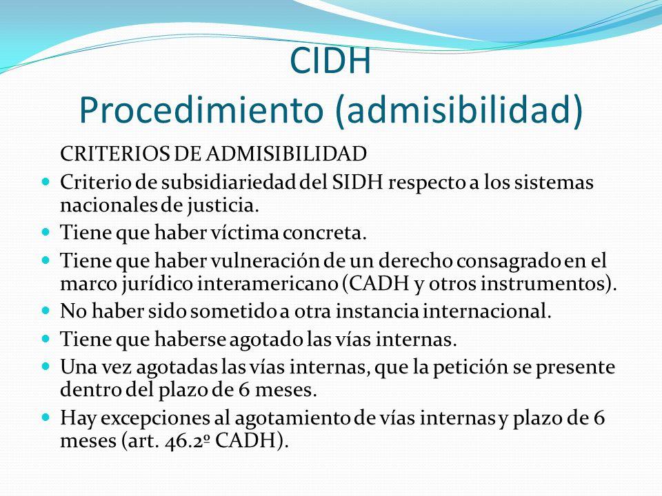 CIDH Procedimiento (admisibilidad)