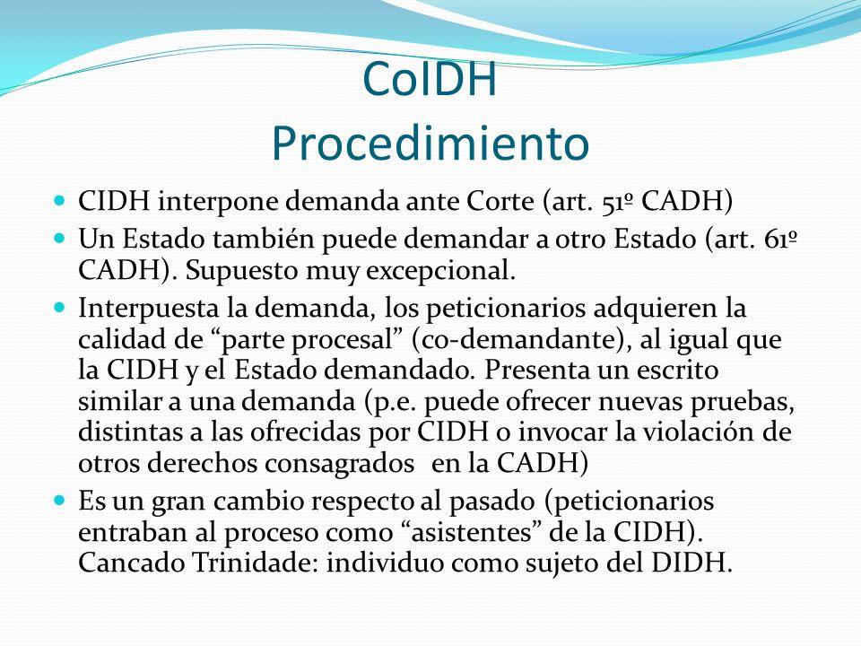 CoIDH Procedimiento CIDH interpone demanda ante Corte (art. 51º CADH)
