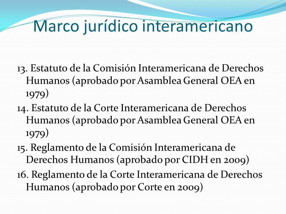 Marco jurídico interamericano
