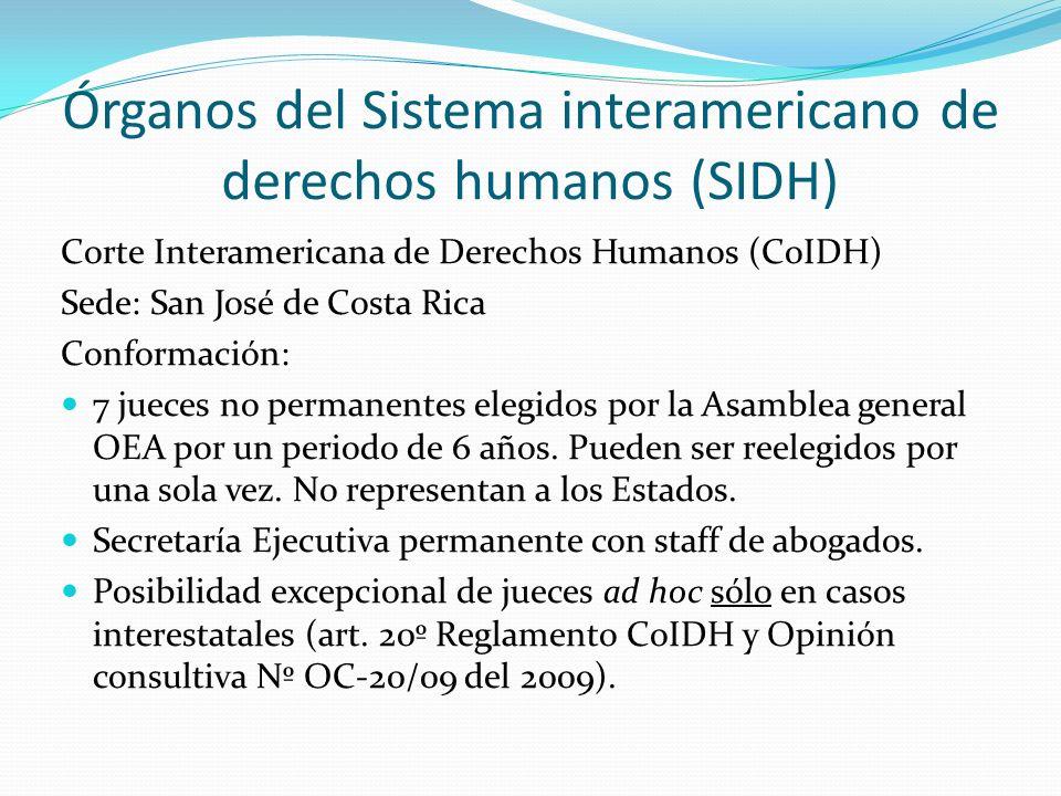 Órganos del Sistema interamericano de derechos humanos (SIDH)
