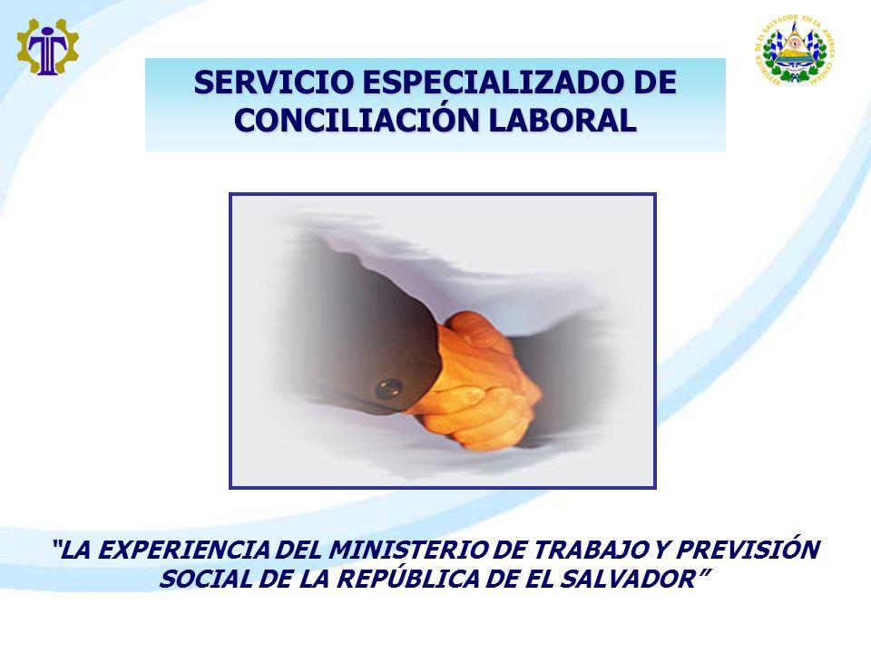 SERVICIO ESPECIALIZADO DE CONCILIACIÓN LABORAL