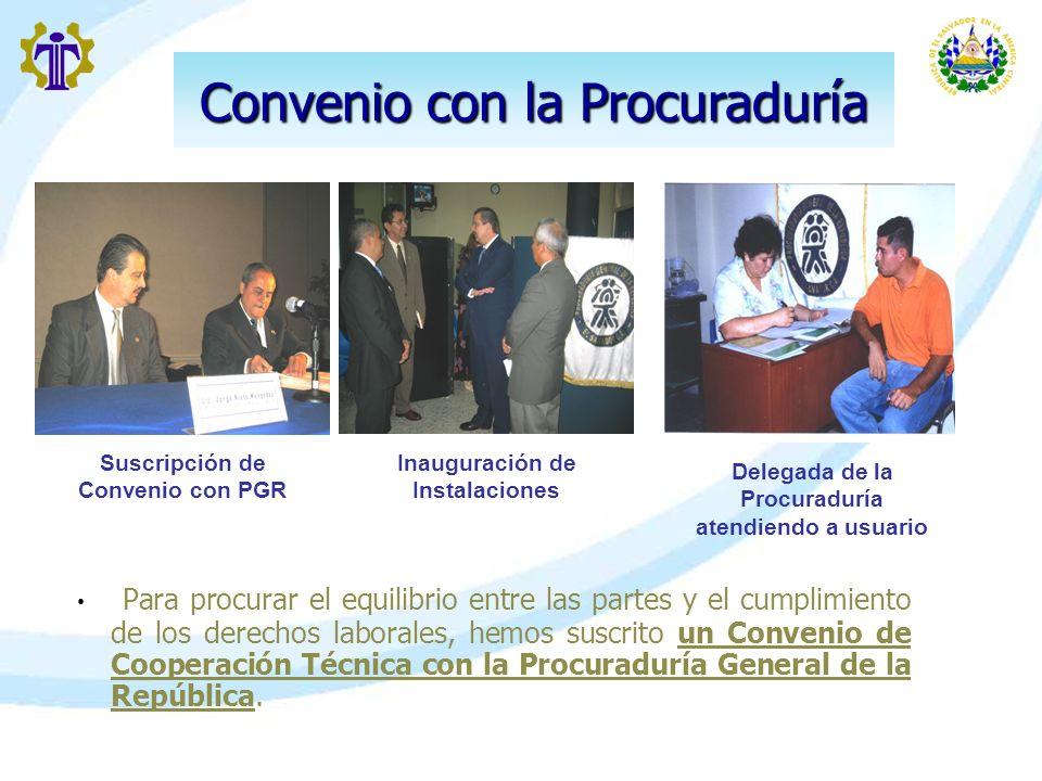 Convenio con la Procuraduría