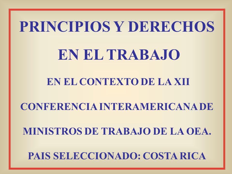 PRINCIPIOS Y DERECHOS EN EL TRABAJO