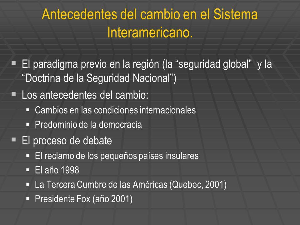 Antecedentes del cambio en el Sistema Interamericano.