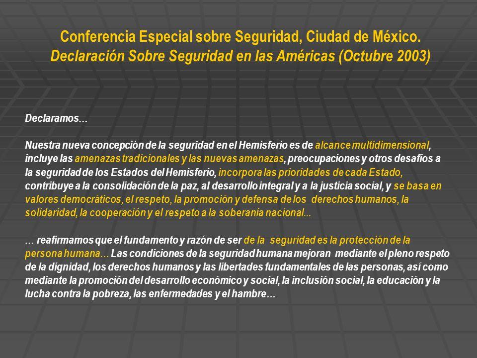 Conferencia Especial sobre Seguridad, Ciudad de México.