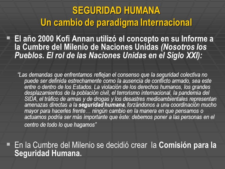SEGURIDAD HUMANA Un cambio de paradigma Internacional
