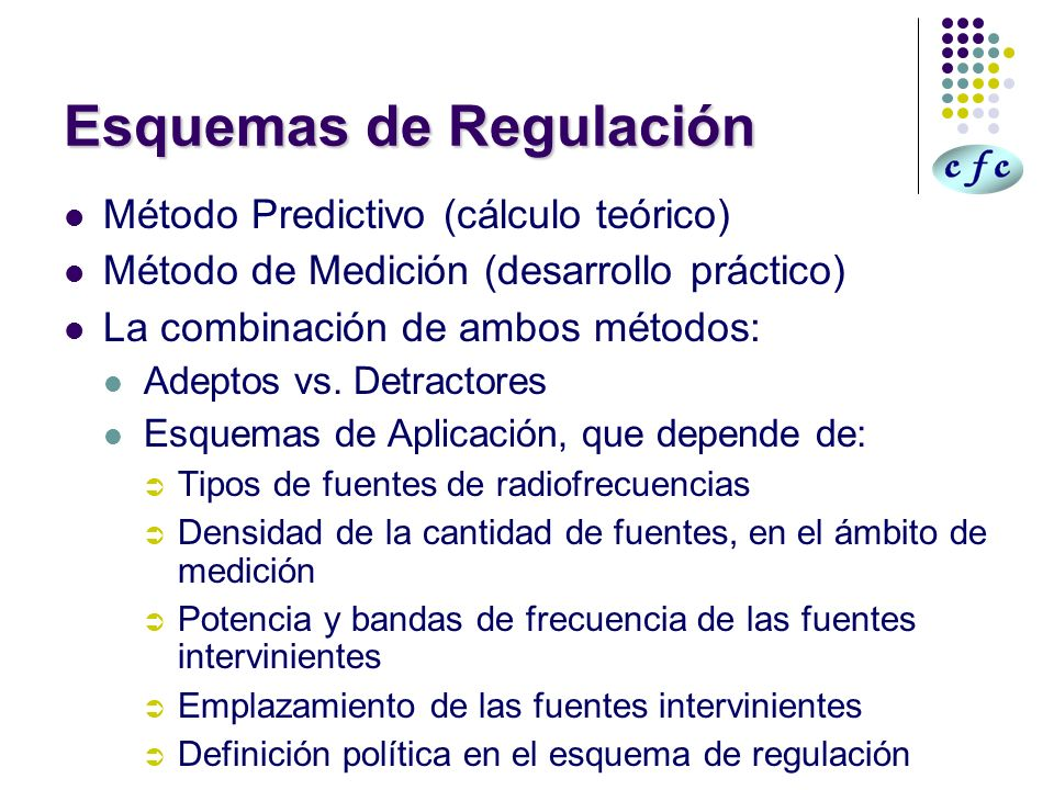 Esquemas de Regulación