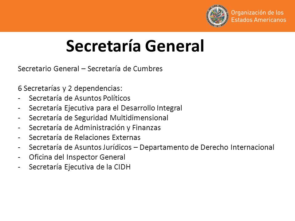 Secretaría General Secretario General – Secretaría de Cumbres