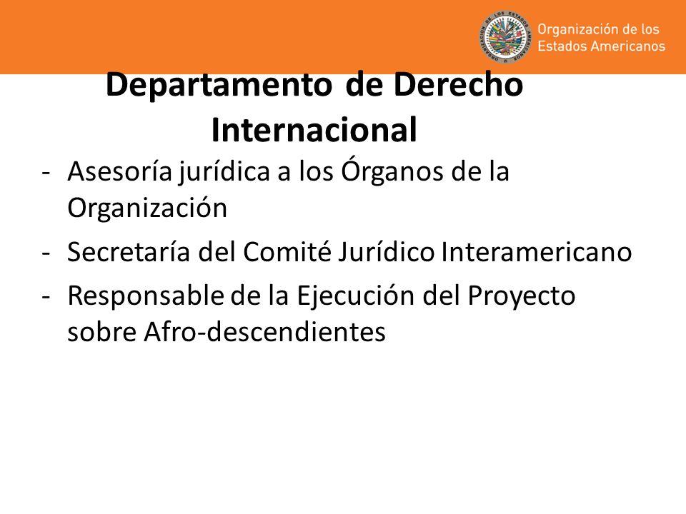 Departamento de Derecho Internacional