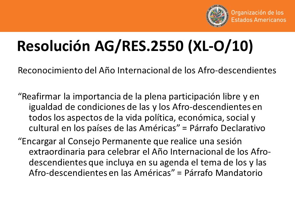Resolución AG/RES.2550 (XL-O/10)