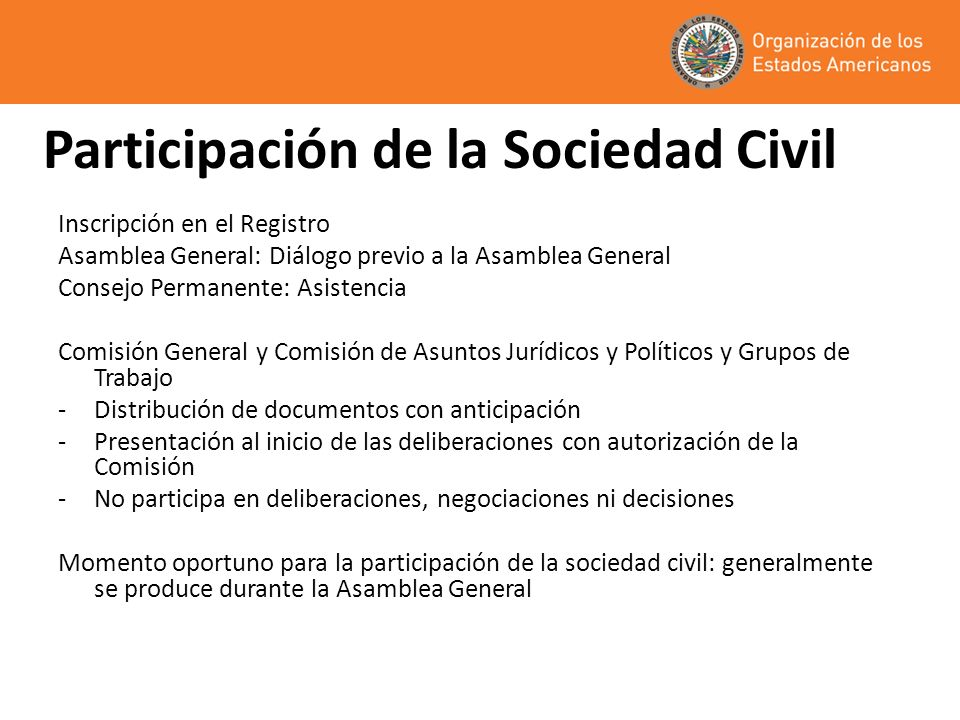 Participación de la Sociedad Civil