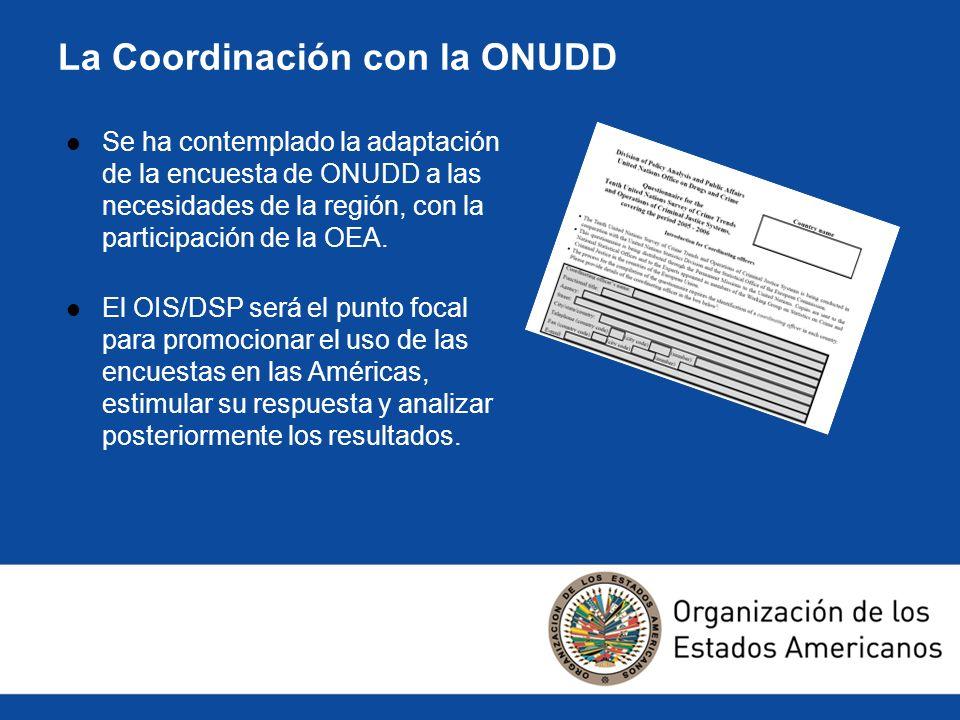 La Coordinación con la ONUDD