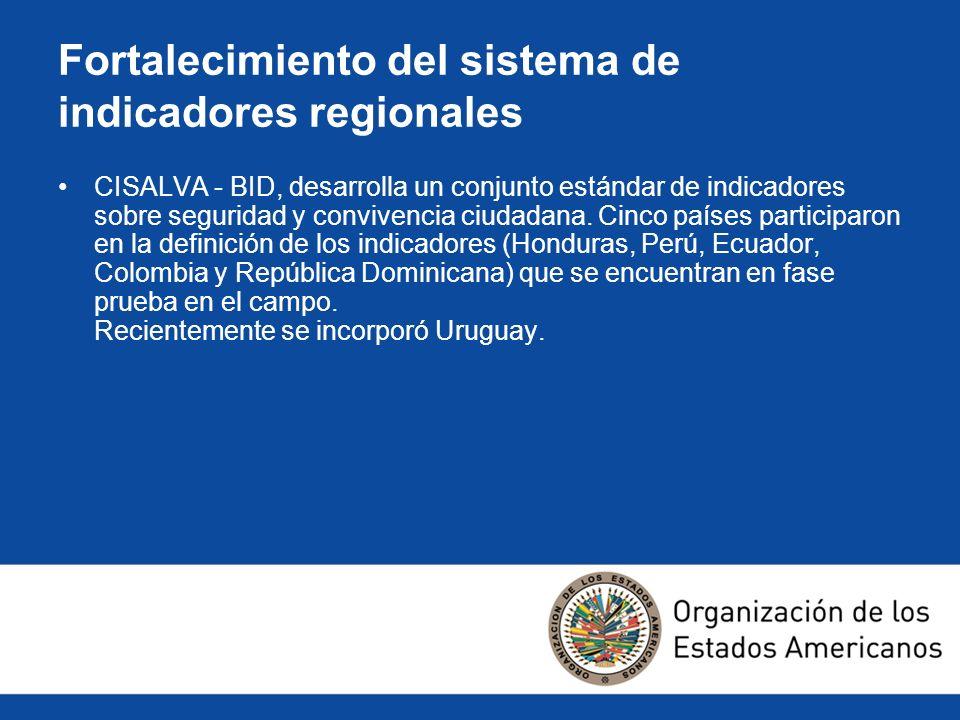 Fortalecimiento del sistema de indicadores regionales