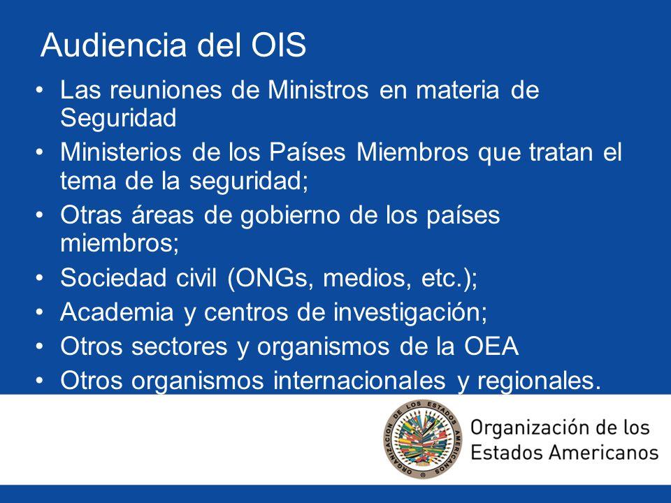 Audiencia del OIS Las reuniones de Ministros en materia de Seguridad