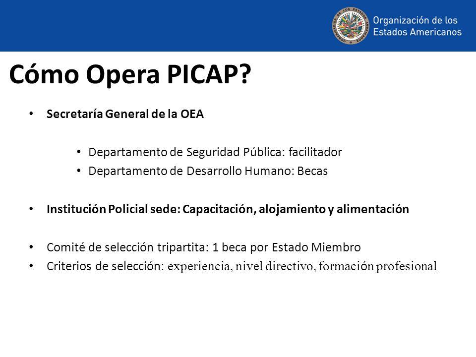 Cómo Opera PICAP Secretaría General de la OEA